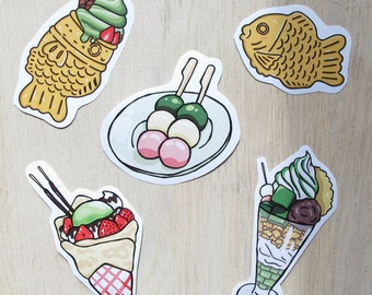 Cute Stickers inspired by Japanese Sweets