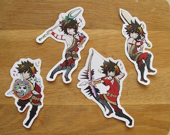 Cute Stickers inspired by Hades