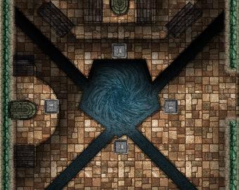 Versatile Modular Dungeon Diagonal Wall Set