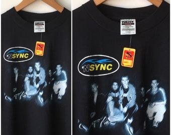 NSYNC Justin Timberlake Strutting Suits Album Cover Mens T Shirt Pop Music Merch