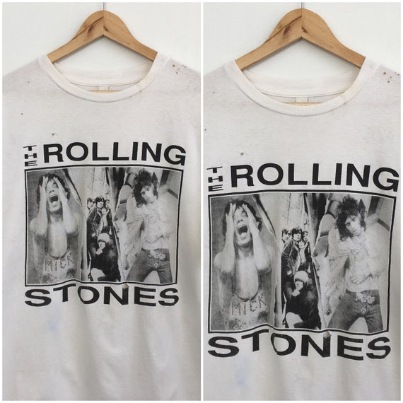 Vintage Rolling Stones Bootleg Tee Shirt XL White