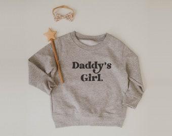 DADDY/'S BOY RETRO x Fleece Sweatshirt x Modern Screen Printed Kids Shirt x Minimal Screen Printed Design Top x Baby Gift x Kids Gift
