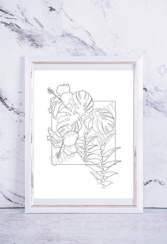 Printable Jungle Coloring Page – Book PDF | 836x570