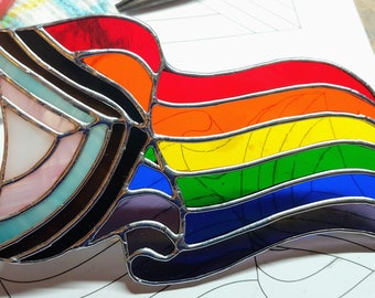 Progress Flag   Stained Glass Pride Flag