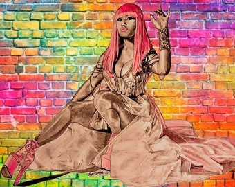 Megan Thee Stallion hip hop Limited Edition hand signednumbered art sketch Giclee prints