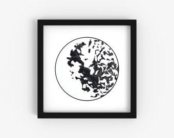 Rice No. 1 - Minimalist Black and White Fine Art Print - Limited Edition 1/250 - Digital Photography