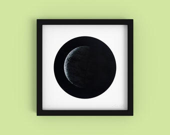 Tortilla - Minimalist Black and White Fine Art Print - Limited Edition 2/250 - Digital Photography