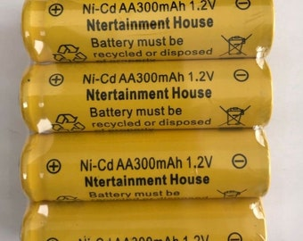 Set of 4/8/12/20 pieces Size AA 1.2v (300mAh) Ni-Cd Rechargeable Battery For Solar Light