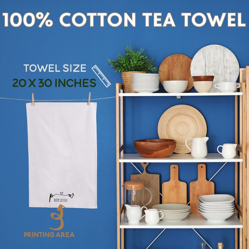 Decorative Housewarming Gift Personalized Dish Cloth Home D\u00e9cor Farmhouse Flour Sack Towels LC01D01 Kitchen Decoration Tea Towel