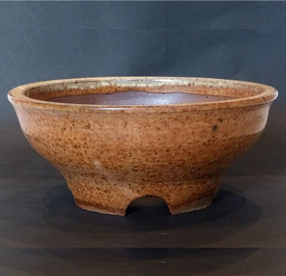Bonsai Pot Wood Fired Stoneware Glazed Shohin Bonsai Pot Etsy
