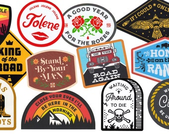 Country Music Sticker 12-Pack