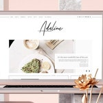 Adaline • Responsive Blogger template, fashion premium Blogger theme with slider, lifestyle blog design, premade feminine Blogspot layout