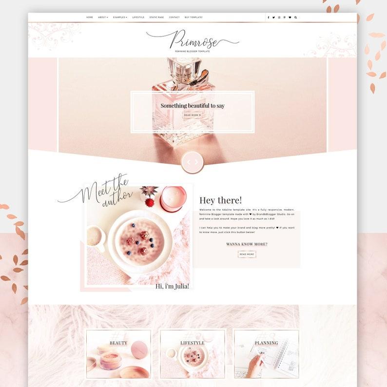 Primrose  Responsive Blogger template fashion premium image 0