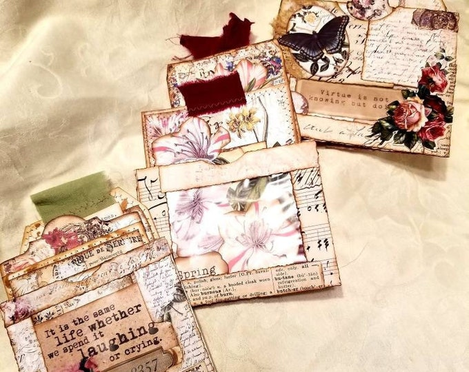 Envelope Flip Pockets with Tags and Journal Cards Set of 3