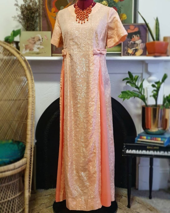 Stunning 1960s Iredescent Evening Gown