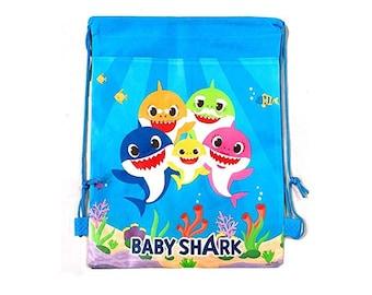 Baby Shark Party Suppli Baby Shark Drawstring Bag For Gift Bag Party Favor Bag