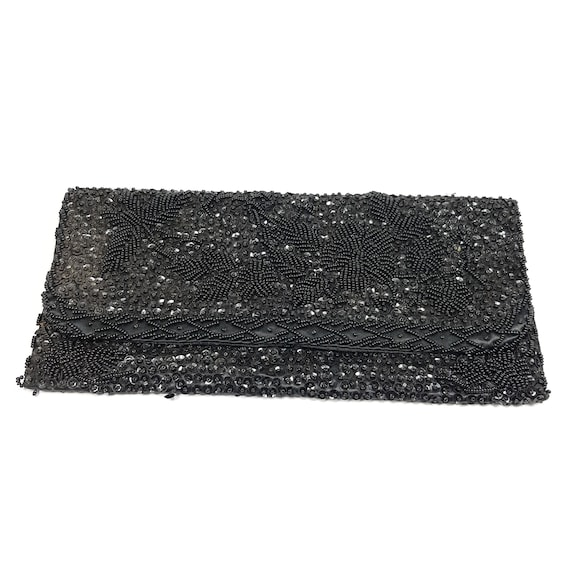 Vintage Beaded Sequin Clutch  or Purse 1960's