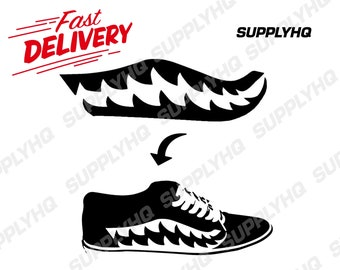 58b4d21d15f9 Side panel bape shark teeth vinyl painting stencil for shoes   small  objects  high quality