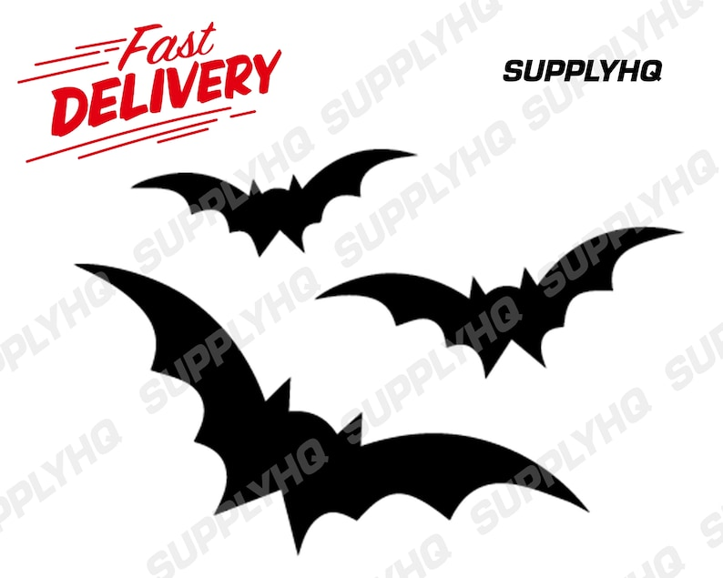 Halloween bats vinyl painting stencil for shoes /& small objects *high quality*