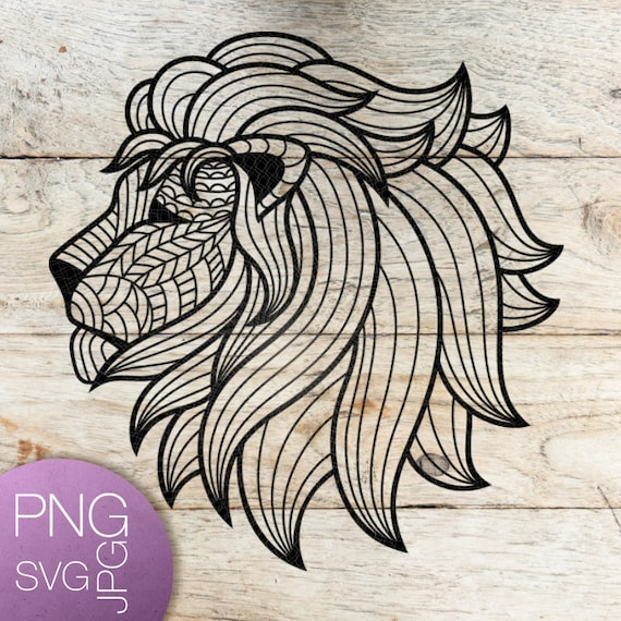 Lion Svg Lion Head Svg Geometric Svg Geometric Lion Svg Animal Etsy