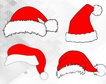 Santa Hat Svg Etsy