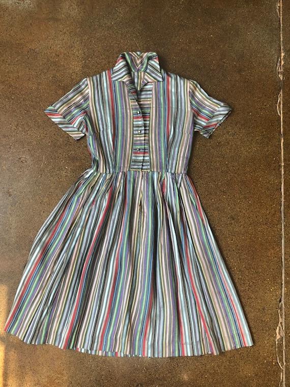 BEST Vintage Vtg 1950s Rainbow Satin Ribbon Strip… - image 1