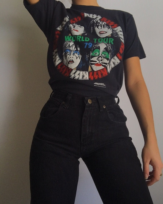 Vintage Original Kiss 1979 concert tour t shirt