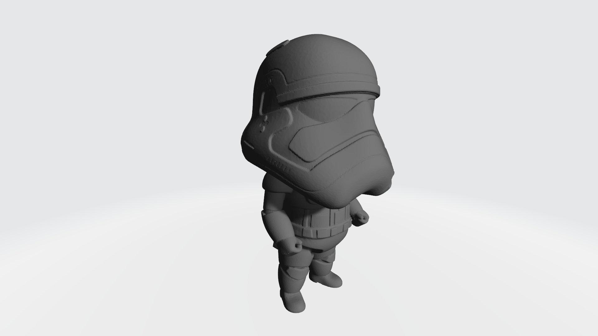 Cute Storm Trooper (Star Wars) 3D Printed Statue