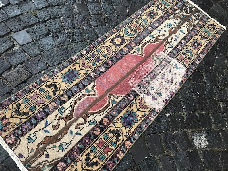 Patchwork Rug,Vintage Rug,Turkish Rug,Hallway Rug,Carpet,Home Decor-Wool Rug-Runner Rug-Handmade Rug 186 x 66 CM  6,10 x 2,16 Ft