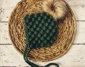 Perry Bonnet Baby Bonnet Newborn to Toddler Gender Neutral Baby Shower Gift Modern Boho Baby Faux Fur Pom Pom Pixie Bobble
