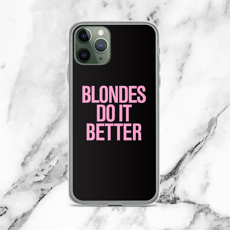 Blondes do it Better Pink 80/'s Typography iPhone Case