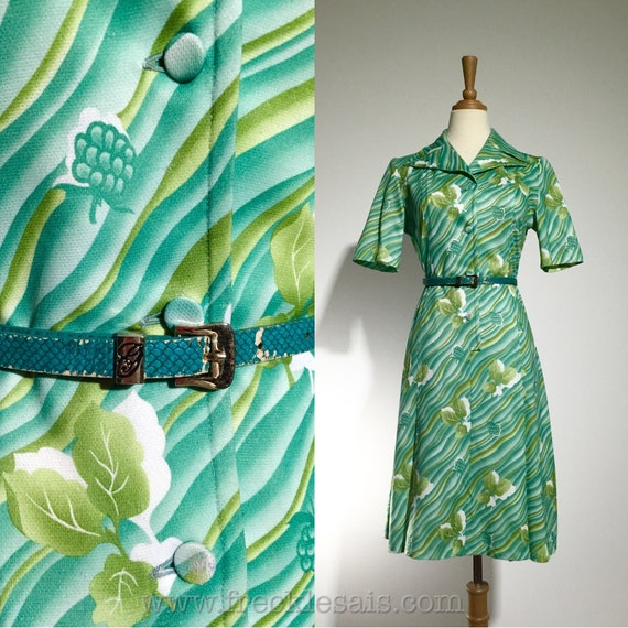 Telmail Green 70s dress, France | M