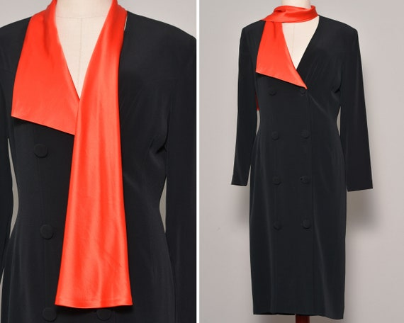 Classy Black Sheath Shawled Long Sleeve Dress | Ho
