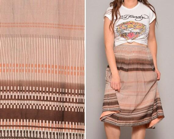 90s A Line Skirt High Waist Skirts Striped Pinstri