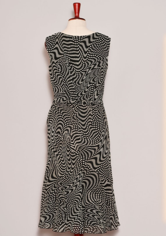 Black White Psychedelic Print Top Skirt Set - image 5