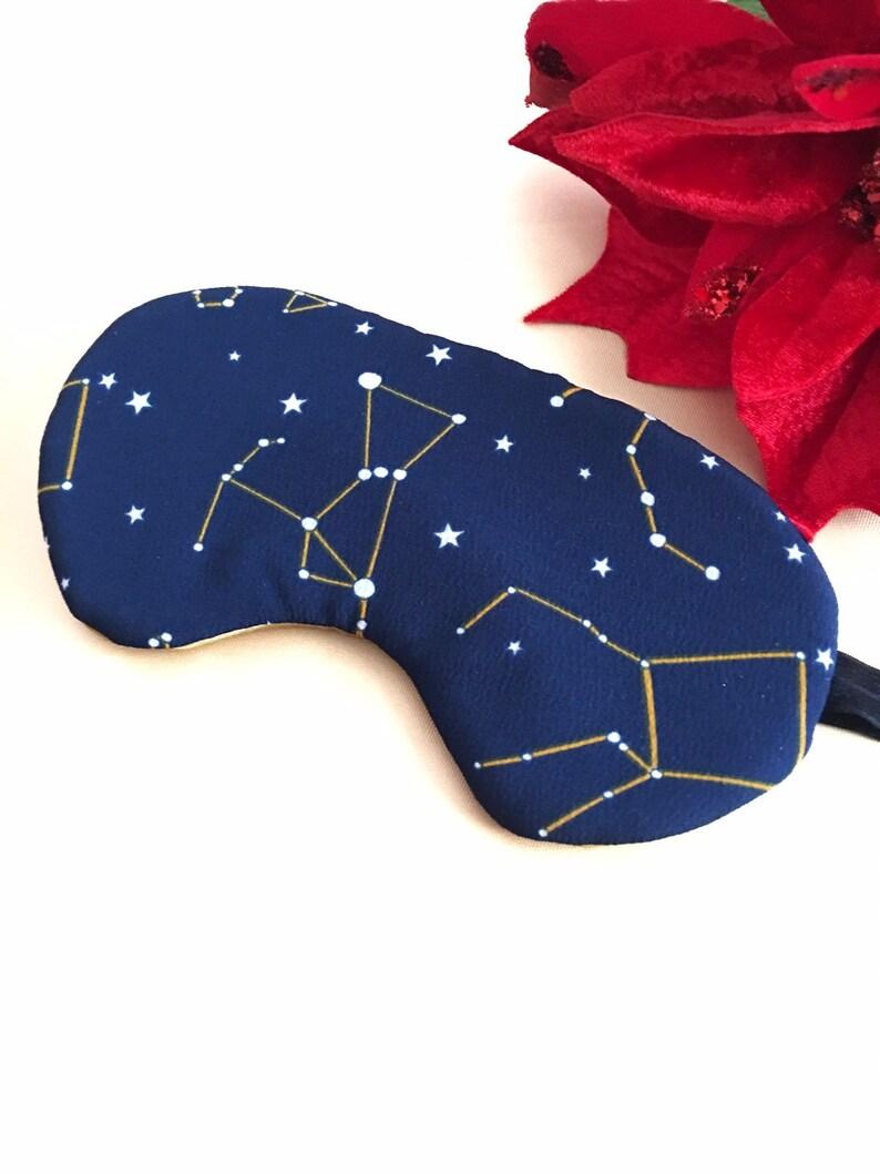 Zodiac Celestial Sleeping Eye Mask Gift for Her Galaxy Sleep Mask Guy\u2019s Gift