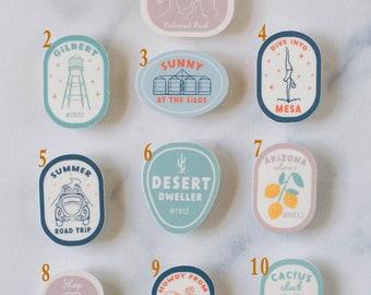 Vinyl Sticker Mix and Match - Local Arizona Landmarks