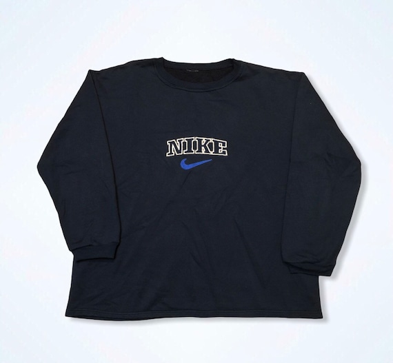 BOOTLEG Vintage Nike Navy Spellout 1990s Embroider