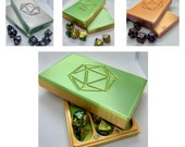 Dice box 3D printed dice chest dnd color shift ombré