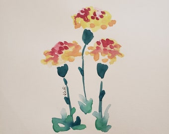 4234ce406 Carnation watercolor   Etsy