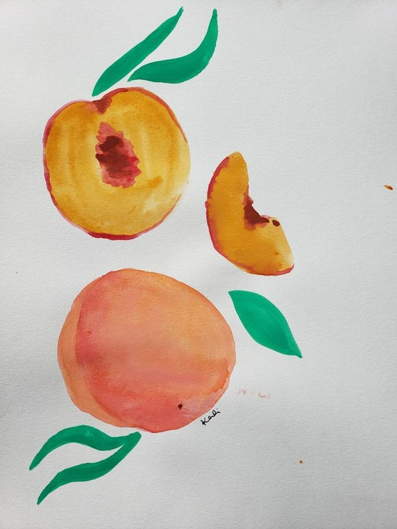 Peaches watercolor