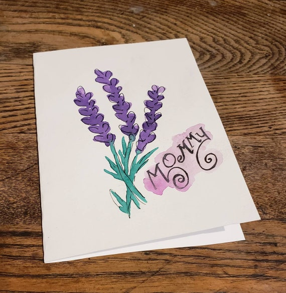 Mommy lavender mothers day card