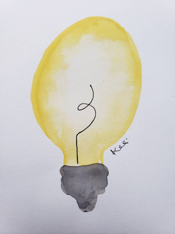 Lightbulb watercolor