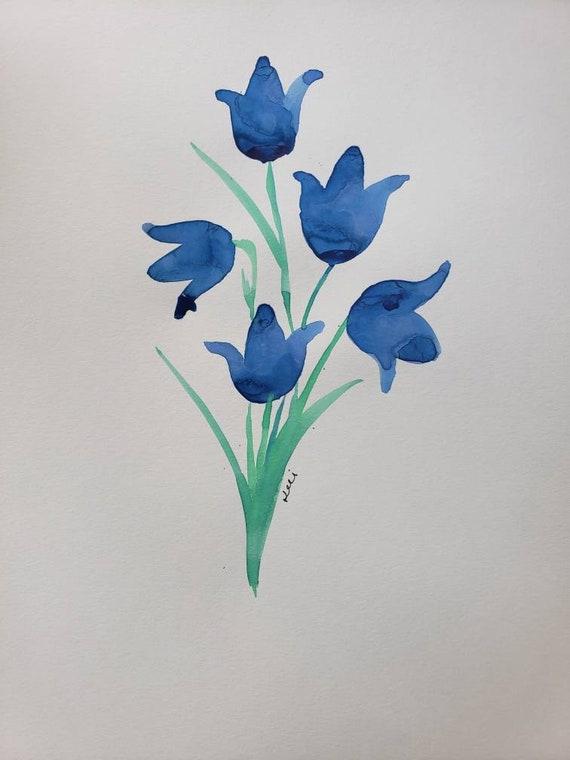 Bluebells watercolor