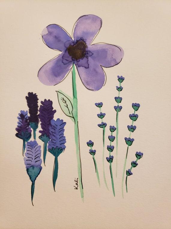 Purple flower showcase