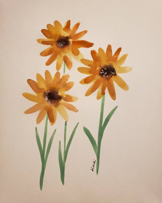 Daisy watercolor