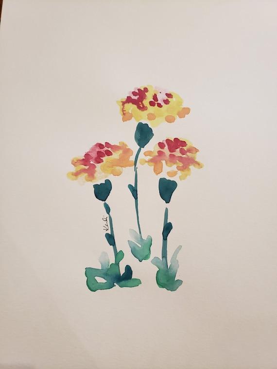 Carnation watercolor