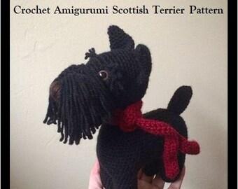 Vintage Crochet Dogs Pattern Scottie French Poodle Jr | Etsy | 270x340