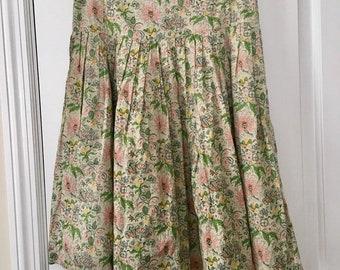 9261ef182 Diario | Vintage Italian Floral Pleated Skirt 42 6