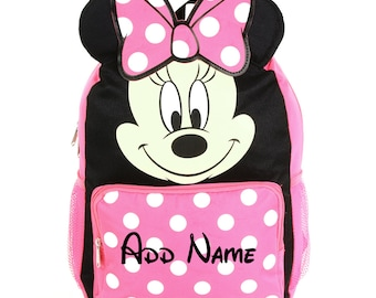 Personalized Mickey Mouse 10 Inch Mini Backpack with 3D Ears